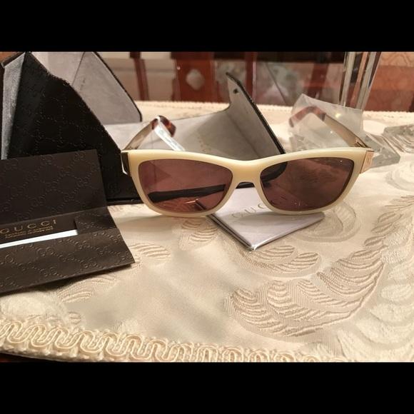115bcdd31de Gucci 50mm Square Gold Tone Sunglasses mens Womens